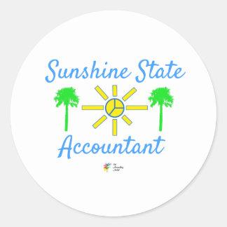 Etiqueta do contador de Florida sunshine state