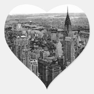 Etiqueta do coração da Nova Iorque