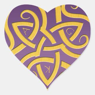 Etiqueta do coração de AGK