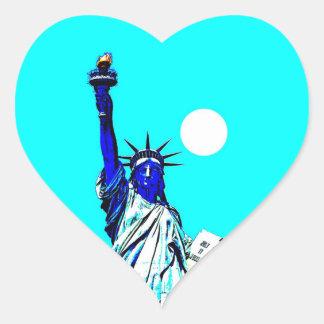Etiqueta do coração do pop art da estátua da