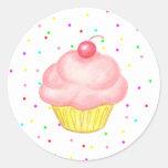 Etiqueta do cupcake adesivos redondos