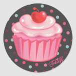 Etiqueta do cupcake de Fluffcakes pelo fluff Adesivo