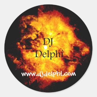 Etiqueta do DJ Dephi DelFire Adesivo