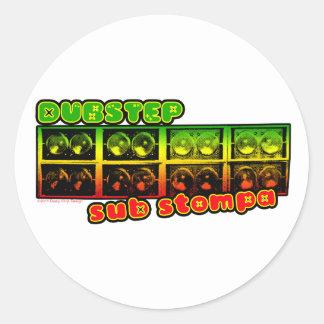 Etiqueta do Dub da reggae de DUBSTEP Adesivo