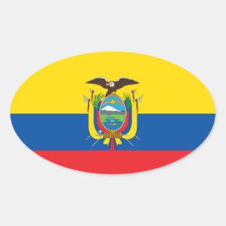 Etiqueta do Euro--estilo da bandeira de Colômbia Adesivo Oval