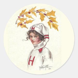 Etiqueta do feriado do Coed de Harvard do vintage