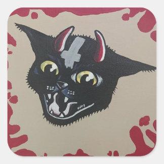 Etiqueta do gatinho do diabo