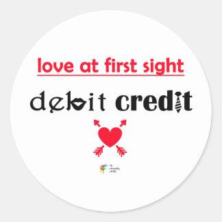 Etiqueta do humor da contabilidade - amor na