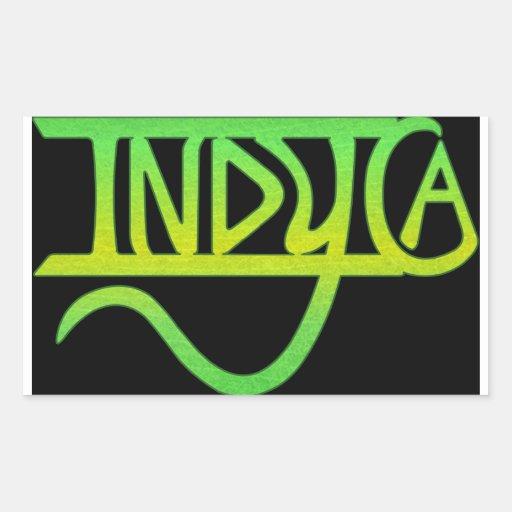etiqueta do indyca adesivos em formato retangulares