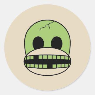 Etiqueta do macaco da peúga do monstro do verde do