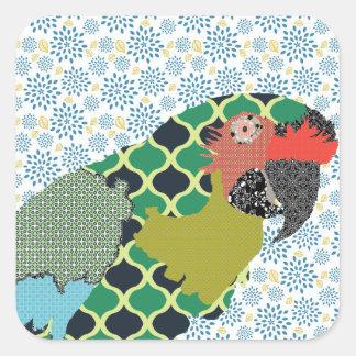 Etiqueta do Macaw de Molly Adesivo Quadrado