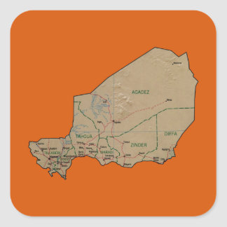 Etiqueta do mapa de Niger