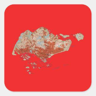 Etiqueta do mapa de Singapore