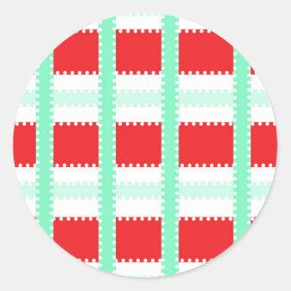 Etiqueta do Natal bonito verde & vermelha, dos Adesivo