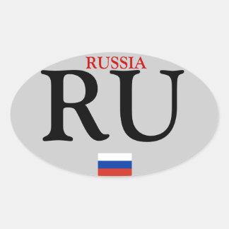 Etiqueta do Oval de Russia* Adesivo Oval