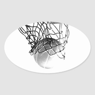 Etiqueta do Oval do basquetebol Adesivo Oval