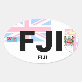Etiqueta do Oval do Euro--Estilo de Fiji (FJI)