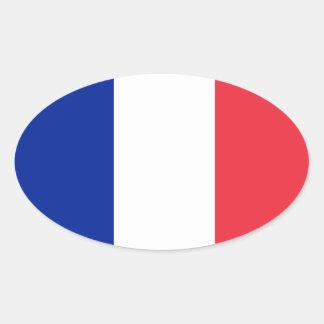 Etiqueta do Oval do Europeu-estilo da bandeira de Adesivo Oval