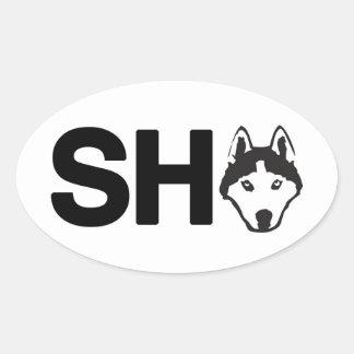 Etiqueta do Oval do rouco Siberian