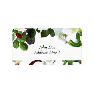 Etiqueta do porte postal do casamento etiqueta de endereço