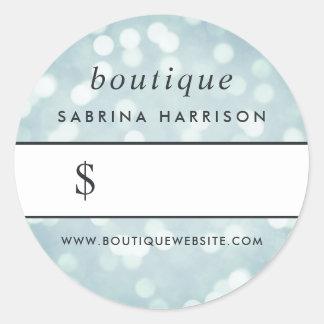 Etiqueta do preço do boutique de Bokeh | do azul Adesivo
