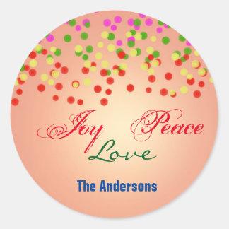 Etiqueta do presente da etiqueta do Natal do amor Adesivo