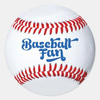 Etiqueta do presente do fã de basebol adesivos em formato redondos