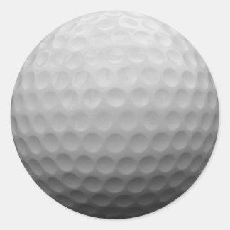 Etiqueta do presente do jogador de golfe do fã do adesivo em formato redondo
