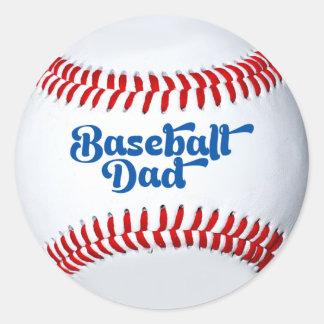Etiqueta do presente do pai do basebol adesivos