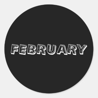 Etiqueta do preto da sopa do alfabeto de fevereiro