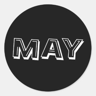 Etiqueta do preto da sopa do alfabeto de maio por