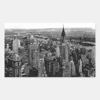 Etiqueta do retângulo da Nova Iorque