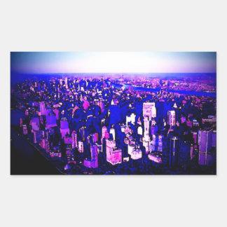 Etiqueta do retângulo da Nova Iorque de Manhattan