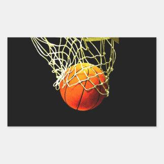 Etiqueta do retângulo do basquetebol adesivo retangular