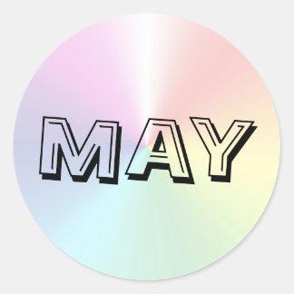 Etiqueta do Shimmer da sopa do alfabeto de maio