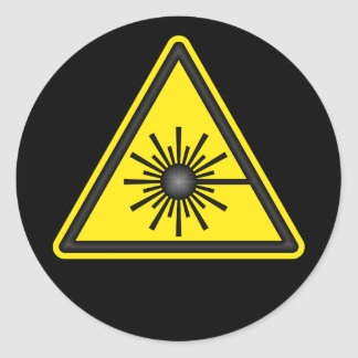 Etiqueta do símbolo de advertência de laser
