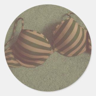 Etiqueta do sutiã adesivo em formato redondo