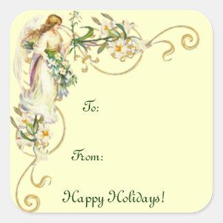 Etiqueta do Tag do presente/boas festas Adesivo Quadrado