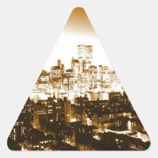 Etiqueta do triângulo de Manhattan New York Adesivo Triangular