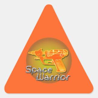 Etiqueta do triângulo de Warrrior do espaço
