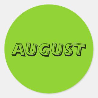Etiqueta do verde amarelo da sopa do alfabeto de