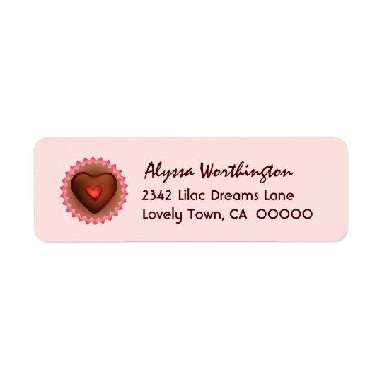 Etiqueta Doces de chocolate A01 do querido
