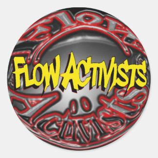 Etiqueta dos activistas do fluxo adesivo