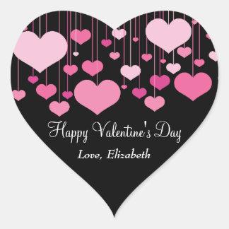 Etiqueta dos namorados dos Heartstrings Adesivo Coração