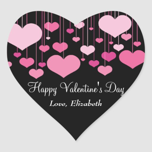 Etiqueta dos namorados dos Heartstrings Adesivos De Corações