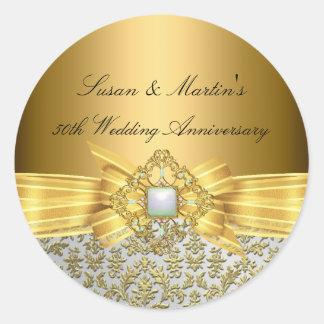 Etiqueta elegante do aniversário de casamento do adesivo