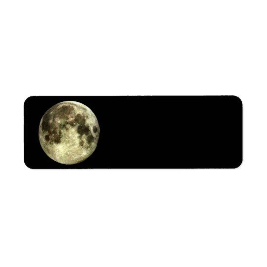 Etiqueta Endereço De Retorno Endereço do remetente da Lua cheia