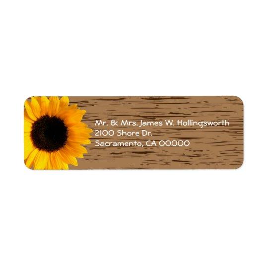 Etiqueta Endereço do remetente de madeira do costume da grã