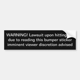 etiqueta engraçada do bumpersticker adesivo para carro