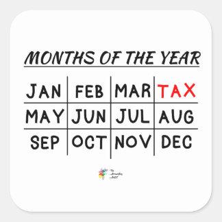 Etiqueta engraçada do imposto para o contador do